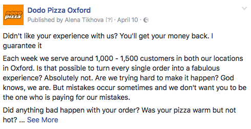 Guess what happened when we offered a 100% money-back guarantee to all unhappy customers